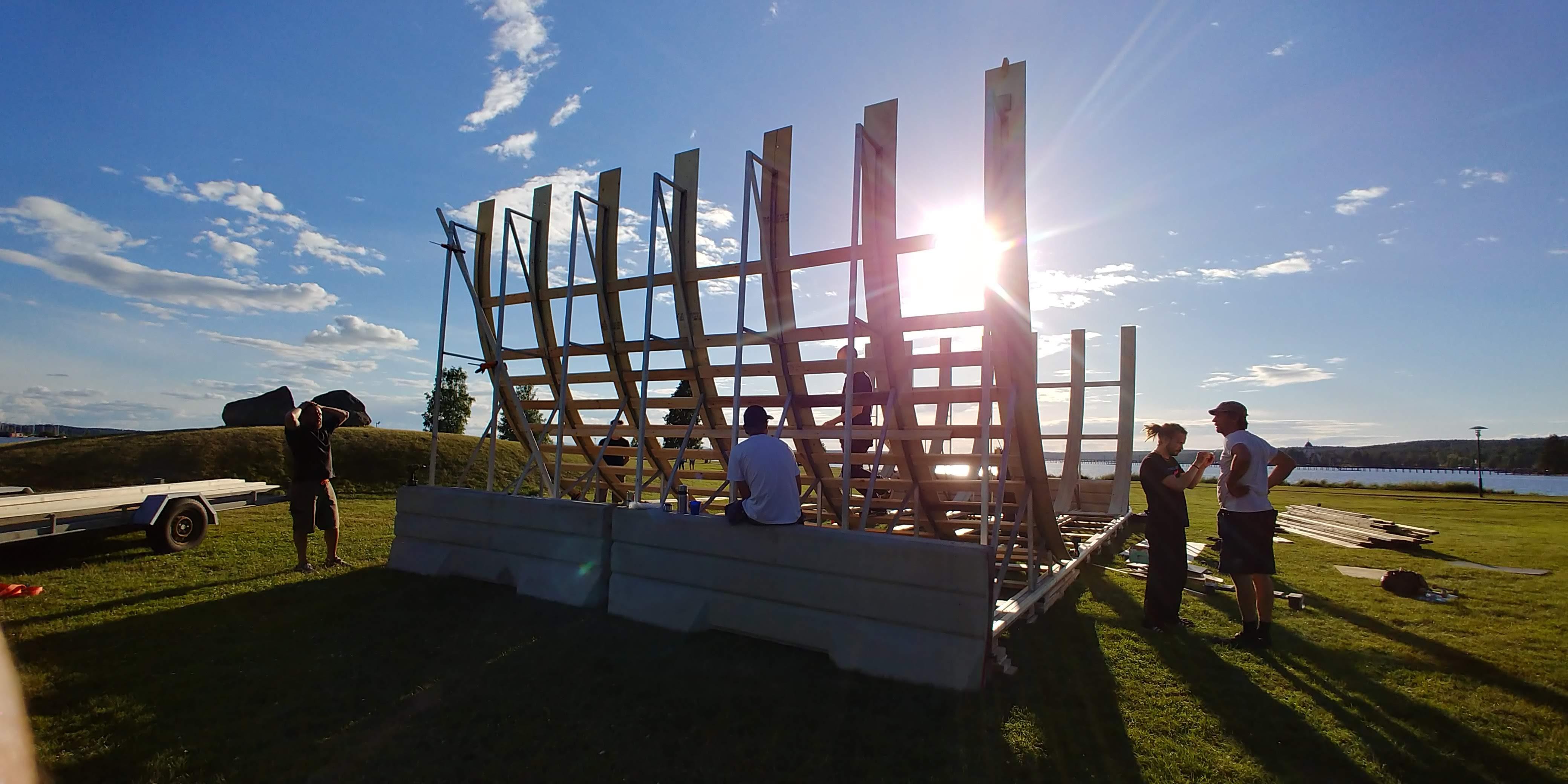Ramp build day in Rättvik